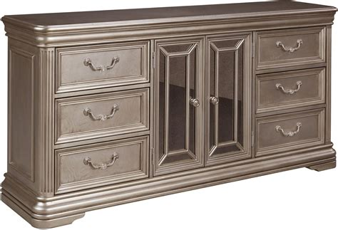 silver bedroom furniture foter birlanny silver dresser b720 31 ashley