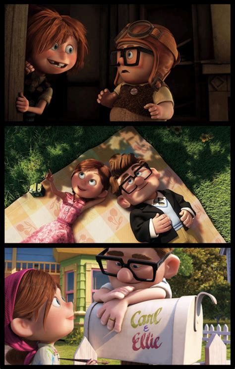film up ellie and carl what is written in your adventure book