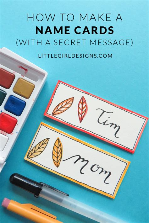 How To Make Name Cards With A Secret Message Inside