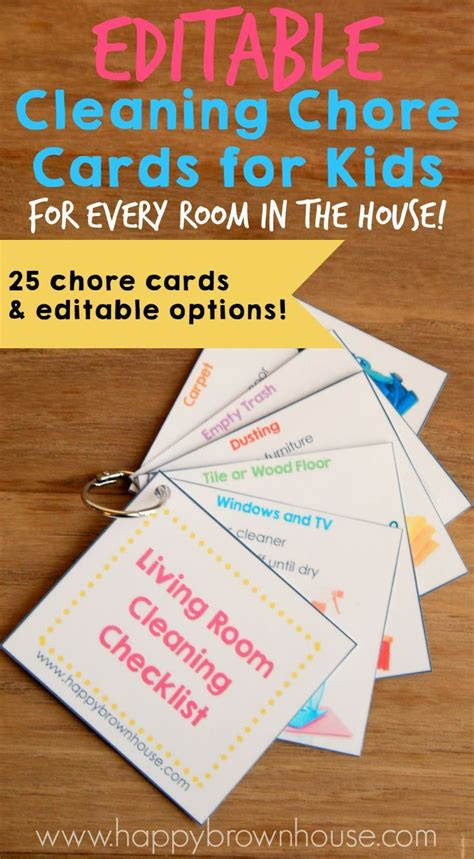 printable chore card template 25 best ideas about printable chore cards on