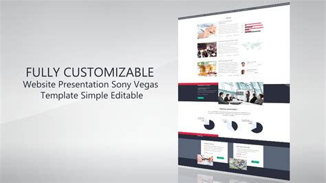 website presentation promo template sony vegas 12 13 14