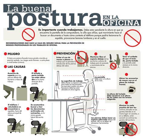 Lumbar 84 la buena postura en la oficina infografia infographic