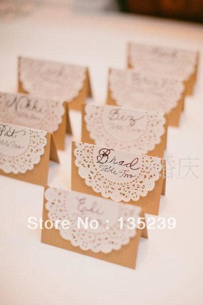 reception card template brown paper aliexpress buy 200 personalised place name table