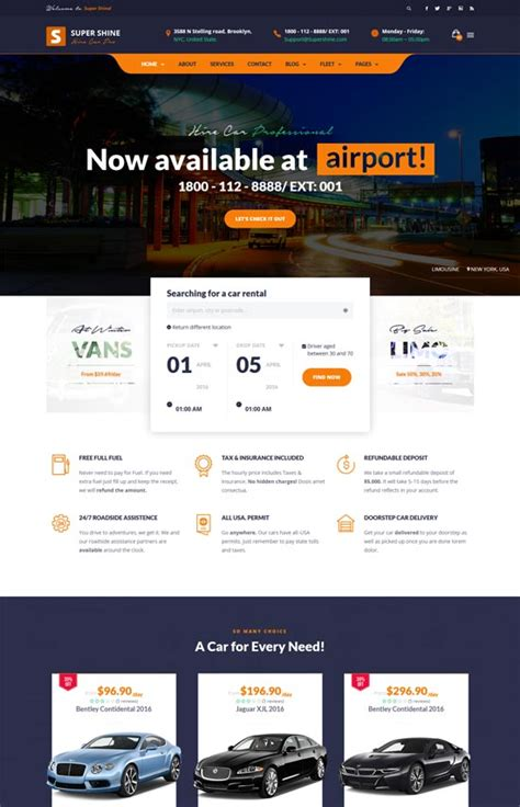 best site to rent cars 20 best car rental taxi website templates free premium
