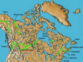 canada rivers map discover canada s rivers