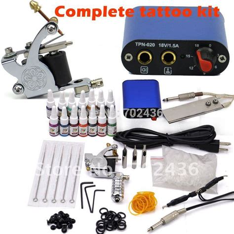 pro tattoo kits beginner rotary kit tatoo machine 14 color inks
