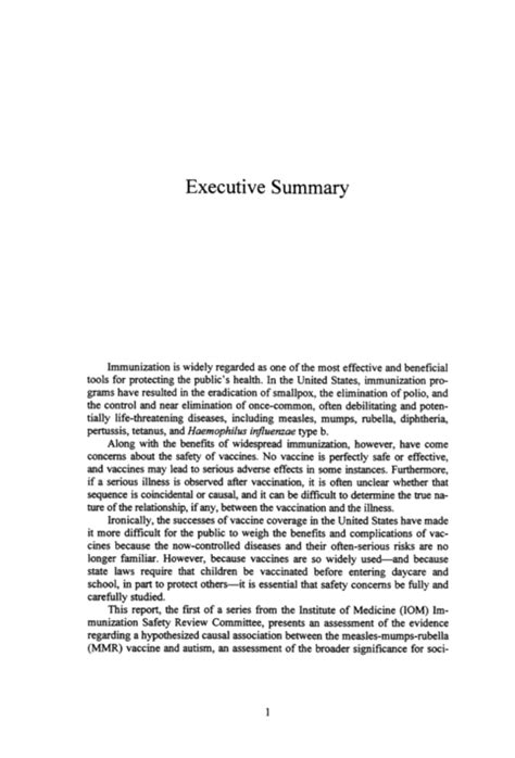 executive summary exle apa style
