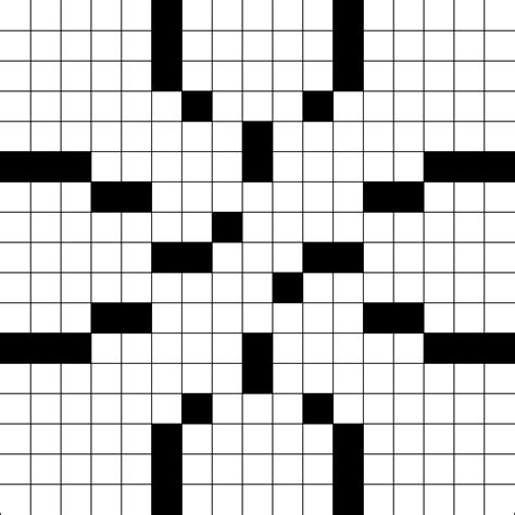 printable graph paper for crossword puzzles printable crossword puzzle grid blank