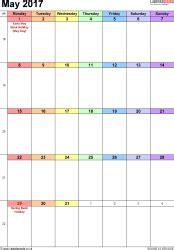 P Calendar Exle Calendar May 2017 Uk Bank Holidays Excel Pdf Word Templates