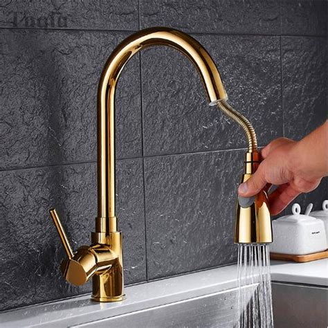 brass kitchen faucets antique finish single handle deck
