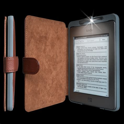 hudl pattern password brown kindle touch lighted case