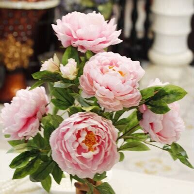 Free Shipping 7 Flower Heads Artificial Flowers Aliexpress Buy Free Shipping 7big Peony Flower Heads