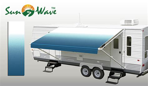 How To Install Rv Awning Fabric Ocean Blue Fade Rv Patio Awning Fabric Sunwave Products