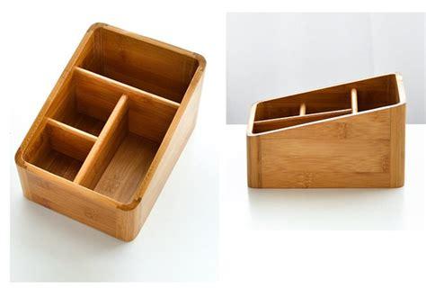 Bamboo Desk Organizer 4 Compartments Bamboo Desk Organizer Yi Bamboo Bamboo Products