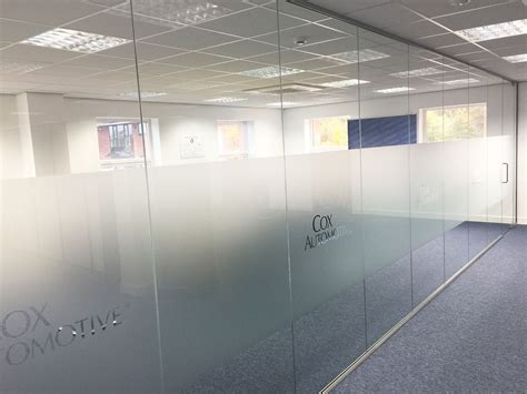 How To Play Green Glass Door by Glass Partitioning At We Want Any Car Ltd Staffordshire