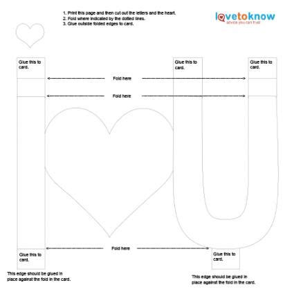 3d I You Pop Up Card Template by Ideas For Pop Up Cards Lovetoknow