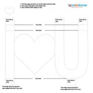 pop up letters template ideas for pop up cards