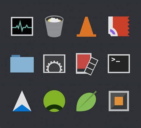 design icon mac flat icons flat design icons signs pictograms