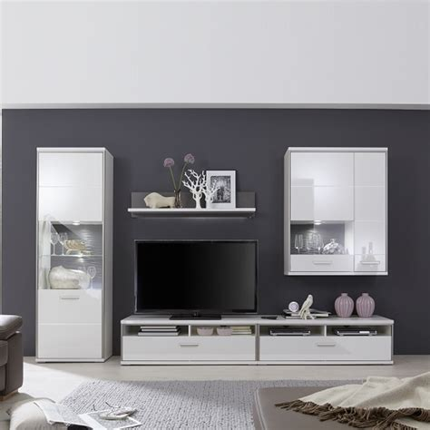 White Gloss Living Room Furniture Sets Libya Living Room Set In White High Gloss With Led On Marvelous Living Room Furniture Ideas