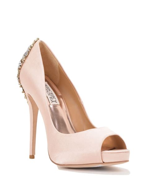 Blush Colored Shoes For Wedding by Kiara By Badgley Mischka Classic Colours Eternal Bridal
