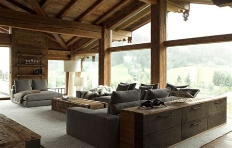 Nature Room Design by 35 Chalet Living Room Designs Digsdigs