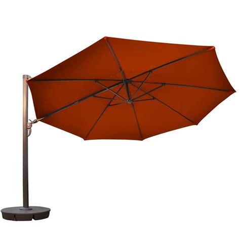 13 Ft Patio Umbrella Island Umbrella 13 Ft Octagonal Cantilever Patio Umbrella In Terra Cotta Sunbrella