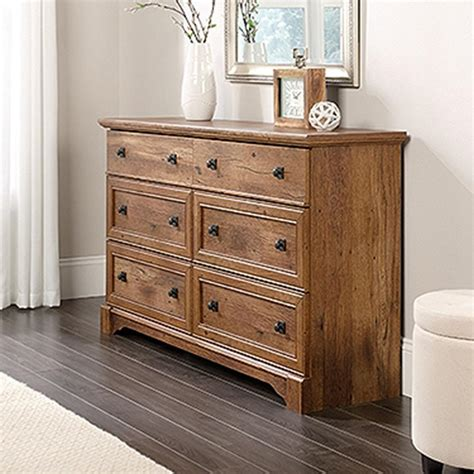 Sauder Shoal Creek 6 Drawer Dresser Oak by Sauder Shoal Creek 6 Drawer Oak Dresser 410287 The