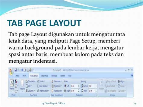 mengatur tata letak layout dokumen 2 3 fungsi dan cara kerja perangkat lunak aplikasi