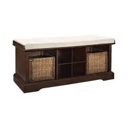 entry way storage bench crosley brennan wood entryway storage bench reviews wayfair