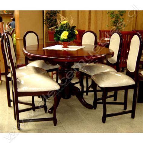 juego de comedor color conac mesa redonda  extencion