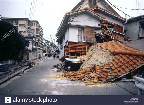 earthquake kobe kobe earthquake 1995 japan stock photo royalty free image