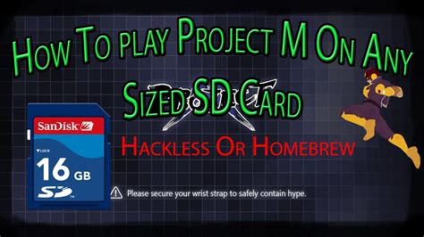 how to install project m how to install project m on any sized sd card hackless