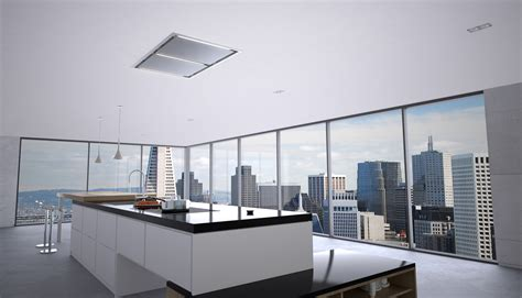 kitchen island ventilation zephyr integrated modern kitchen