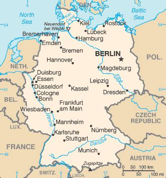 europe germany map germany europe world fact hostel in europe info