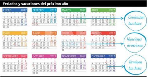 Calendario Escolar 2018 Buenos Aires Mir 225 El Almanaque Escolar Con Los Feriados De 2017 El
