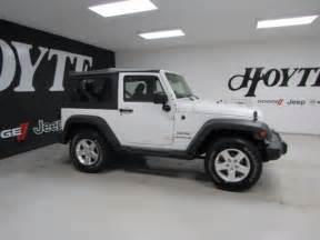 White 2 Door Jeep Wrangler For Sale 2015 Jeep Wrangler 4x4 2 Door Suv Sport White Used Suv For