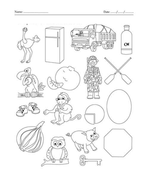 coloring pages that start with the letter o color the picture which start with letter o printable