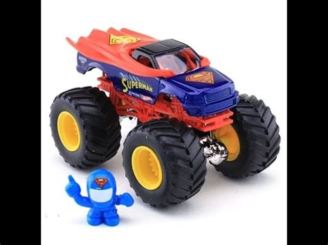 superman monster truck videos wheels monster jam superman monster truck toy youtube