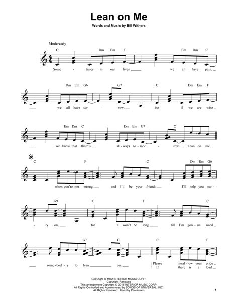 lean on me bathroom song bill withers lean on me sheet music