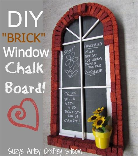 chalkboard paint easy to cover up easy to make quot brick window quot chalkboard hometalk