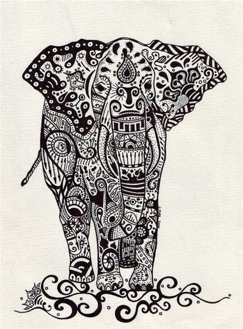 pattern elephant art boho elephant pattern pinterest elephants and boho