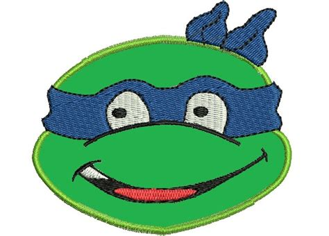 pattern for ninja turtle face instant download applique ninja turtle face by