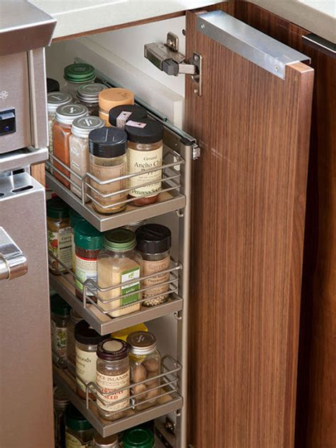 Kitchen Cabinet Pull Out Spice Rack by 11 Clever Ways To Organize Spices Organizing Made