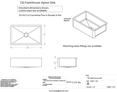 standard apron sink size custom sinks lightsmith