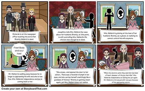 the story of the story of an hour storyboard by laurenbh21