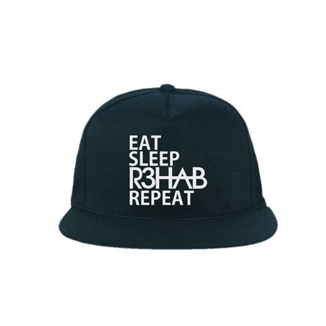 Topi Trucker Snapback Eat Sleep Ls eat sleep r3hab repeat indoclothing