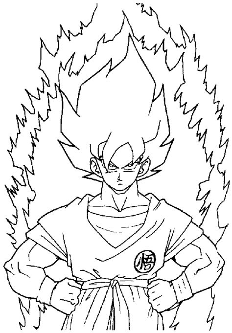 dragon ball z goku super saiyan 2 coloring pages coloring