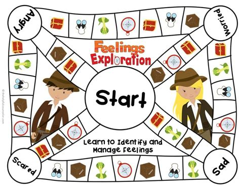 free printable emotions board game free printable anger management cards newhairstylesformen2014 com