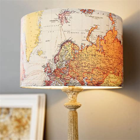 Handmade World - handmade vintage map lshade by rosie s vintage