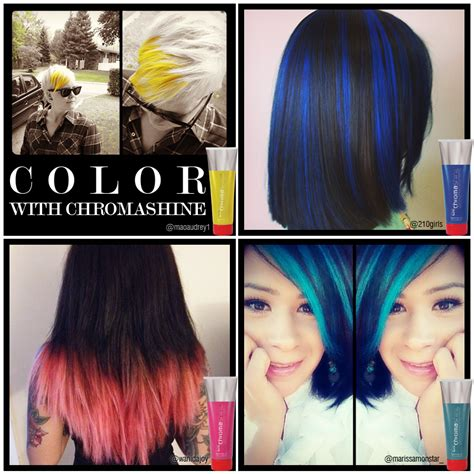 chi color chi chromashine color paleyellow richblue purepink